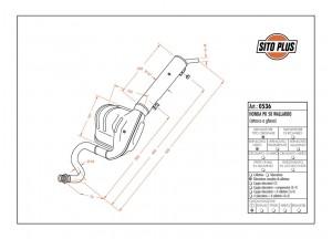 0536 - Muffler Leovince Sito 2-STROKE Honda PK 50 WALLAROO