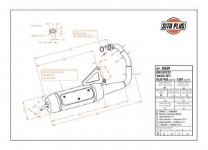 0559 - Muffler Leovince Sito 2T Yamaha BW'S 50 MBK BOOSTER Italjet SCOOP PISTA