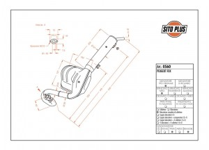 0560 - Muffler Leovince Sito 2-STROKE Peugeot FOX