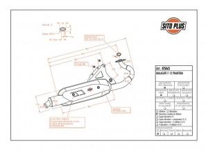 0565 - Muffler Leovince Sito 2-STROKE Malaguti F12 PHANTOM