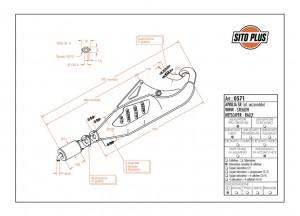 0571 - Muffler Leovince Sito 2-STROKE Aprilia SR WWW STEALTH RACING NETSCAPER