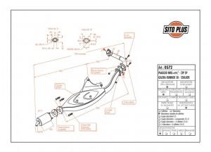 0572 - Muffler Leovince Sito 2T Piaggio ZIP SP NRG=mc2 Gilera STALKER RUNNER