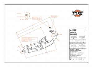 0574 - Muffler Leovince Sito 2-STROKE MBK Ovetto 4
