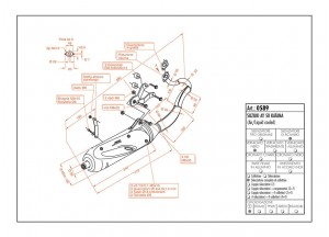 0589 - Muffler Leovince Sito 2-STROKE Suzuki AY 50 KATANA