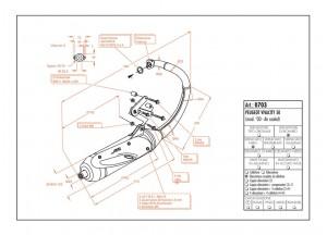 0703 - Muffler Leovince Sito 2-STROKE Peugeot VIVACITY 50