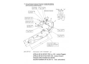 0712 - Muffler Leovince Sito 2T Gilera RUNNER SP Piaggio NRG POWER DD