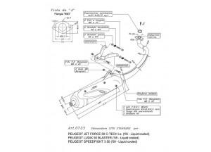0723 - Muffler Leovince Sito 2T Peugeot SPEEDFIGHT 3 LUDIX BLASTER JET FORCE