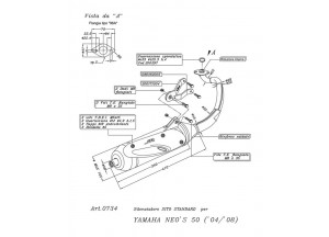 0734 - Muffler Leovince Sito 2-STROKE Yamaha NEO'S 50