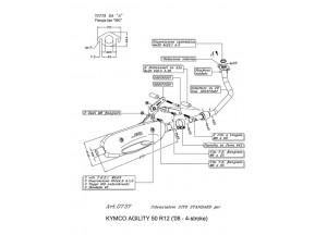 0737 - Muffler Leovince Sito 4-Stroke Kymco AGILITY 50 R12