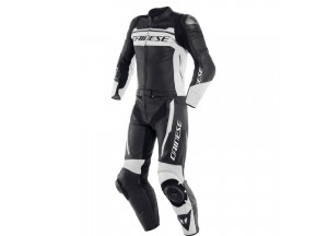 Leather Suit Dainese MISTEL 2 Pieces Matt Black White
