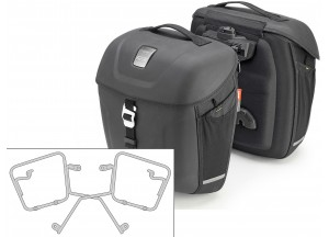 Saddle Bags Givi MT5016 + Specific holder for Triumph Street Twin 900 (16)