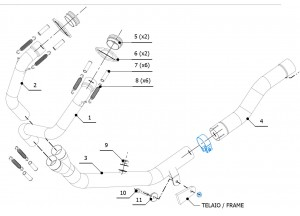 H.059.C1 - Exhaust Manifolds Mivv SPORT HONDA CRF 1000 L AFRICA TWIN (2016 >)