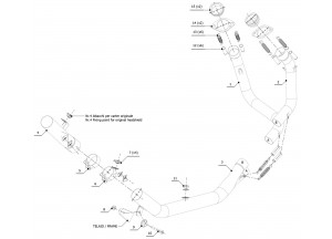 H.059.C2 - Exhaust Manifolds Mivv SPORT HONDA CRF 1000 L AFRICA TWIN (2016 >)