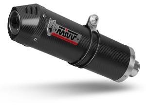 O.010.LVC - Exhaust Muffler Mivv OVAL Black KYMCO XCITING 400 (13-)