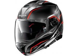 Helmet Flip-Up Full-Face Nolan N100.5 BALTEUS N-COM 42 Matt-Black Red