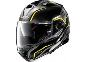 Helmet Flip-Up Full-Face Nolan N100.5 BALTEUS N-COM 43 Glossy-Black Yellow