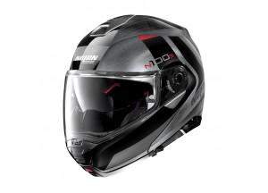 Helmet Flip-Up Full-Face Nolan N100.5 Hilltop 53 Scratched Chrome
