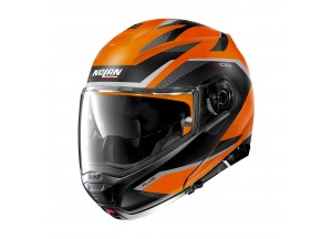 Helmet Flip-Up Full-Face Nolan N100.5 PLUS Overland 39 Flat Led Orange