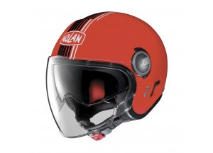Helmet Jet Nolan N21 Visor Joie De Vivre 32 Corsa Red