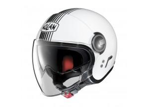 Helmet Jet Nolan N21 Visor Joie De Vivre 41 Metal White
