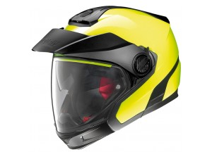 Helmet Full-Face Crossover Nolan N40-5 GT Hi-Visibility 22 Yellow Fluo