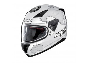 Helmet Full-Face Nolan N60.5 Gemini Replica 29 Carlos Checa Flat White
