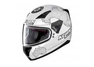 Helmet Full-Face Nolan N60.5 Gemini Replica 29 Carlos Checa Flat White