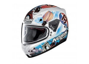 Helmet Full-Face Nolan N60.5 Gemini Replica 38 Marco Melandri FRA Metal White