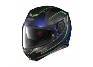 Helmet Full-Face Nolan N87 Savoir Faire 57 Fade Flat Cayman Blue