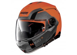 Helmet Flip-Up Full-Face Nolan N100.5 Consistency 27 Flat Led Orange