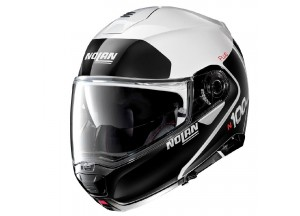 Helmet Flip-Up Full-Face Nolan N100.5 PLUS Distinctive 22 Metal White