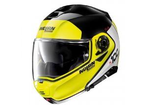 Helmet Flip-Up Full-Face Nolan N100.5 PLUS Distinctive 28 Glossy Black Yellow
