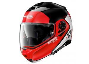 Helmet Flip-Up Full-Face Nolan N100.5 PLUS Distinctive 27 Glossy Black Red
