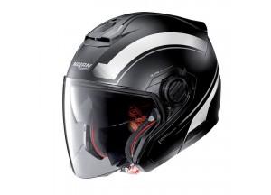 Helmet Jet Nolan N40-5 Resolute 16 Matt Black White