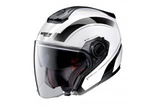 Helmet Jet Nolan N40-5 Resolute 19 Metal White