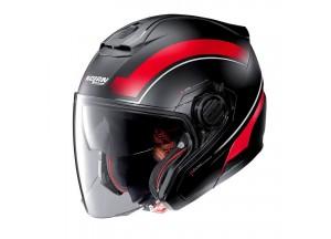 Helmet Jet Nolan N40-5 Resolute 17 Matt Black Red
