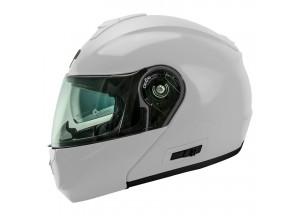 Helmet Flip-Up Full-Face Nos NS-8 Glossy White