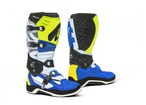 Boots Forma Off-Road Motocross MX Pilot Blue White Yellow Fluo