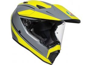 Helmet Full-Face Agv AX 9 Pacific Road Matt Grey Yellow Fluo Black