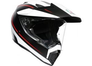 Helmet Full-Face Agv AX 9 Pacific Road Matt Black White Red