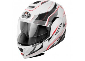 Helmet Flip-Up Full-Face Airoh Rev Revolution White Gloss
