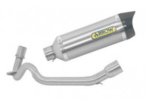 Kit Exhaust Arrow Muffler T / C + Manifolds Aprilia SR 125 Motard '12>