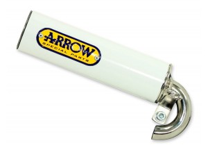 33012SEB - SILENCER MUFFLER ARROW ALUMINIUM SCOOTER STREET WHITE