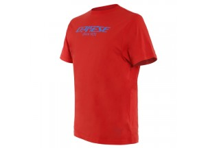 Dainese T-SHIRT PADDOCK LONG Lava-Red/Sky-Diver