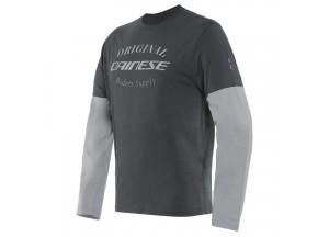 Dainese PADDOCK T-SHIRT LS Charcoal-Gray/Glacier-Gray