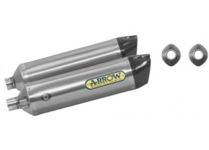 72525TK - EXHAUST ARROW THUNDER TITAN/FOND.CARBY HUSQVARNA SM 630 10 -11 DX+SX