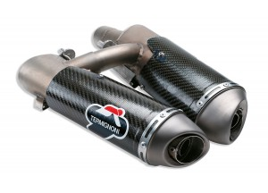 D004CO - Exhaust Mufflers Approved Termignoni Carbon Ducati Hypermotard 796/1100