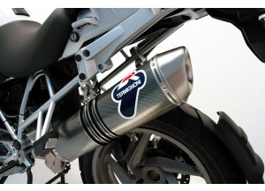 BW02080INO - Exhaust Muffler Termignoni OVAL Dark BMW R 1200 GS (10-12)