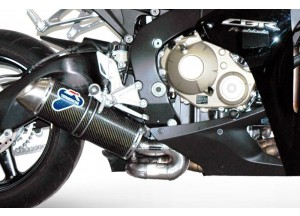 H081080CO - Exhaust Muffler Termignoni OVAL S. Steel Carbon HONDA CBR 1000 RR