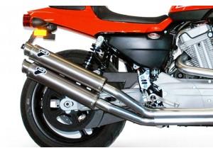 HD03080CR - Exhaust Muffler Termignoni ROUND Carbon Harley-Davidson XR 1200 R